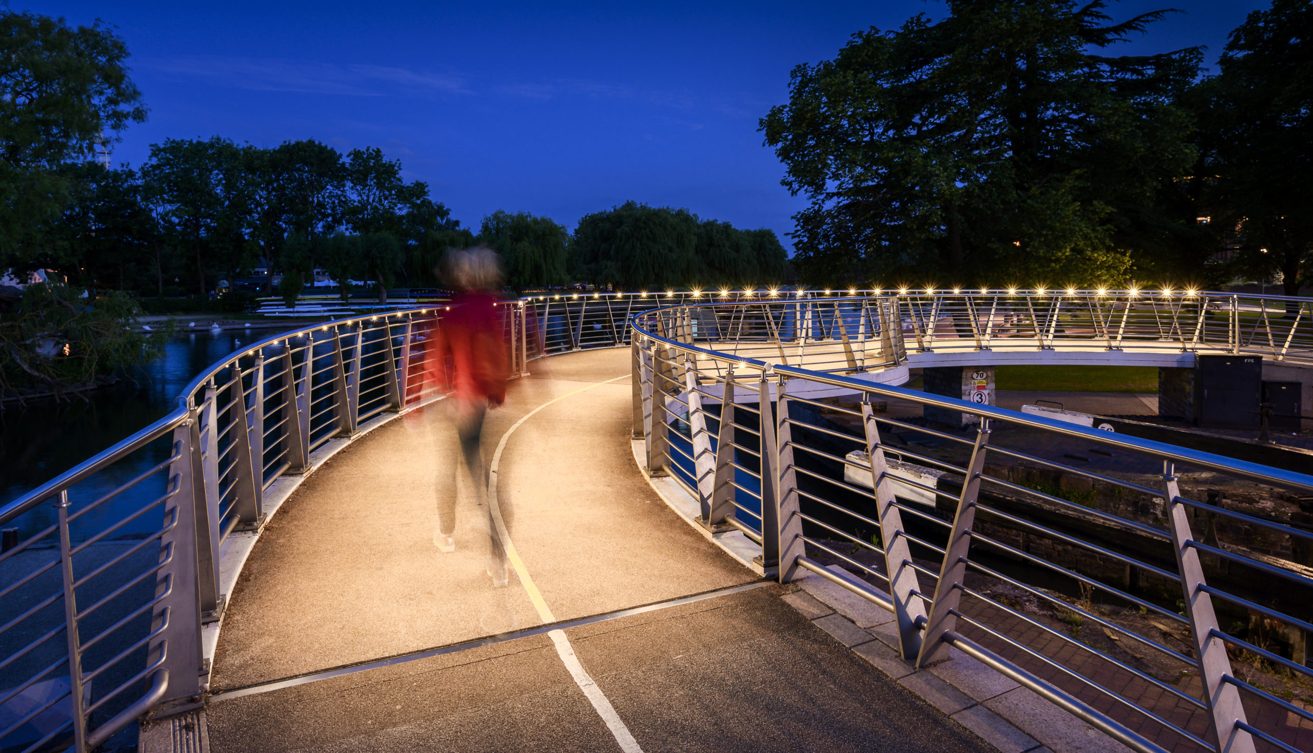 handrail bridge lighting